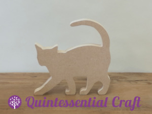 18mm Thick Freestanding Wooden MDF Cat Craft Shape
