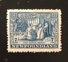 Stamps Canada Newfoundland Sc217 7c blue Receiving Commission, see description.