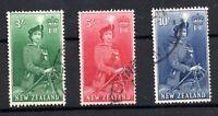 New Zealand 1954 QEII high values fine used SG734-736 WS18790
