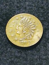 1863 Cwt Fuld 59/385 B R-4 Indian Head Left Ornate Not One Cent Open Wreath