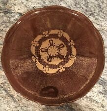 Georges Briard Gold Brown Cake Stand Plate Vintage Midcentury Modern 60s Signed