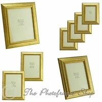 """Antique Vintage Gold Real Wood photo frames for 6""""x4"""" - 12""""x10""""  Pictures"""