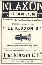 PARIS RUE DARU PUBLICITE AVERTISSEUR AUTOMOBILE THE KLAXON 1913