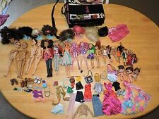 LIV, Barbie, Uneeda, Kid Kore, Hannah Montana Doll Lot Wigs, Clothes, Wig Stands
