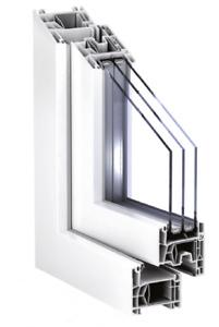 Fenster, Kunststofffenster nach Maß, PVC Fenster, Weiß, Festverglasung, Angebot