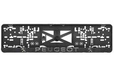 Peugeot 2xECHTE 3D-Effekt Kennzeichenhalter Nummernschildhalter