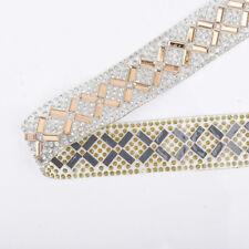 Bling Crystal Rhinestone Ribbon Sewing Decor Trims 40cm Wedding Dress Crafts
