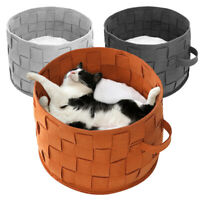 Cat Bed Indoor Cave Nest Bed Pet Sleep Bedding Soft Warm Cushion Mat Small Dogs