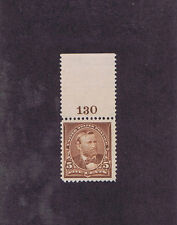 Scott# 270 Og Lh 5 Cent Grant, Top Margin Number 130, 1895, Super Stamp!