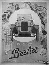 PUBLICITÉ 1924 VOITURE BERLIET MAGASIN D'EXPOSITION 152 CHAMPS ÉLYSÉES PARIS
