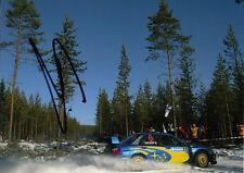 Stephane Sarrazin Hand Signed Subaru World Rally Team Photo 7x5 7.
