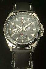 Casio Edifice EF-336L-1 Analog Gents Dress Men's Black Watch 100% Original NIB