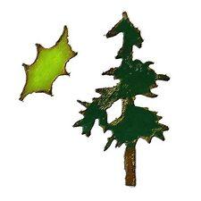 Sizzix Mini Pine Tree & Holly Movers 2 PK #657472 Retail $15.99 Tim Holtz!