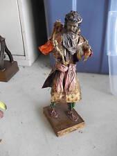 "Stunning Antique Paper Mache Foreign Man Statue 11"""