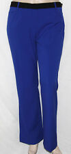 Calvin Klein NEW Sz. 10 Colorblock Straight Leg Pants Blue/Black Inseam 32""