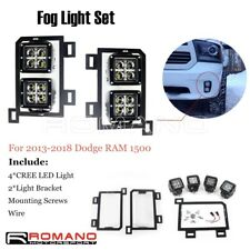 80W Dual Cree LED Fog Lights With Light Bracket & Wire For Dodge RAM 1500 13-18