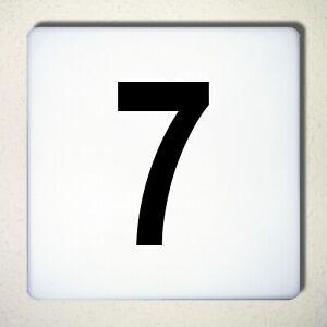 Ziffer Nr 7 schwarz 12cm Zahl Hausnummer Haus Nummer Aufkleber Tattoo Deko Folie