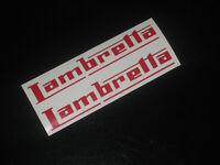 2 LAMBRETTA Decals Stickers Scooter Motorbike Motorcycle Tank Fairing Helmet