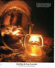 Publicité Advertising 107  1979  parfum femme j'Ai Osé  Guy Laroche