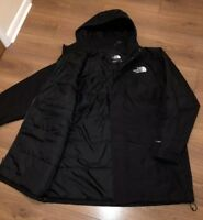 NEW The North Face Black Waterproof HyVent Insulated Parka Coat Jacket XL XXL