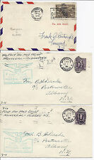 October 1 1928 Canada FFC Lot of 3, Montreal, Quebec to Albany NY