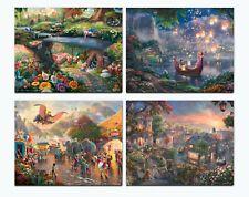 Thomas Kinkade Studios Disney Set of 4 Art Prints