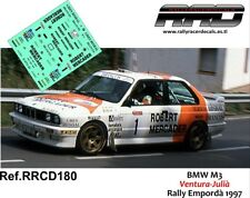 DECAL/CALCA 1/43; BMW M3; Ventura-Julià; Rally Empordà 1997