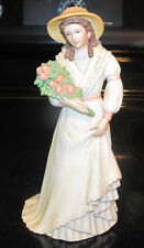 "#1468 Lady Porcelain Figurine Homco Home Interiors ""Charlotte Rose"""