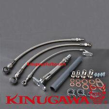 Turbo Oil Water line Nissan RB25DET RB30 W/ Garrett GT4202R GT4508R Ball Bearing