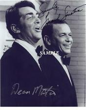 FRANK SINATRA DEAN MARTIN REPRINT 8X10 AUTOGRAPHED SIGNED PICTURE PHOTO RP