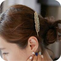 Party Blatt Frauen Mode Haarnadeln Haarklemme Barrettes Feder Haarspange