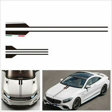 Universal Black Car Hood Racing Body Decal Vinyl Stripe Stickers Decoration Trim