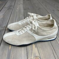 Cole Haan Womens Shoes Sneakers Walking Driving Perforated Suede Leather Size 9