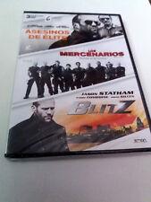 """DVD """"ASESINOS DE ELITE / LOS MERCENARIOS / BLITZ"""" 3DVD PRECINTADO SEALED STATHAM"""