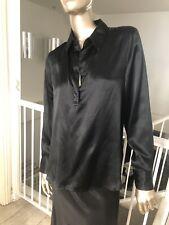 Liz Lange For Target Maternity Black 100% Silk Shirt Sz M