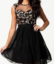Fashion Trends Round-Neck Sequin Net Sleeveless Dresses