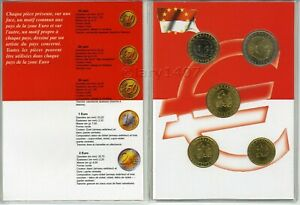 MONACO 2003 – Rare série de 5 pièces UNC/SPL – 10 cent à 2 euro
