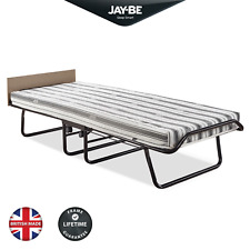 JAY-BE Supreme Single Folding Bed with Airflow Mattress and Headboard