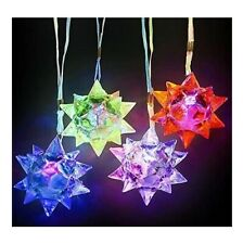 12 Light Up Necklace Crystal Star Soft Flashing LED Glow Toys for party