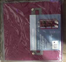 6 Pocket Hanging Modular Shoe Organizer (raspberry) Folds Flat For Storage Km
