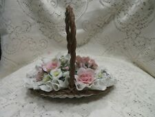 Lladro Flat Flower Basket # 1575