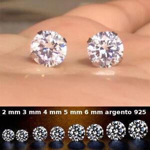 orecchini con brillantino da uomo orecchino in argento 925 punto luce zircone