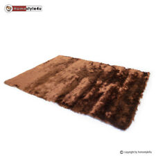 Hochflor Teppich Shaggy 160 x 230 cm braun Neu Moderner Langflor