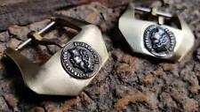 100% Handcraft  BRASS Coin Buckle  for  Panerai Strap  26 mm & All BRONZE Watch