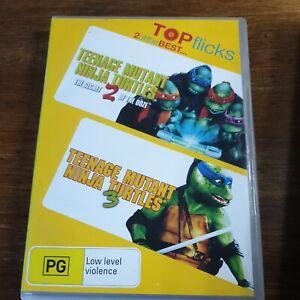 Teenage Mutant Ninja Turtles 2 + 3 DVD Secret of the Ooze R4 Like New! 2 Movies