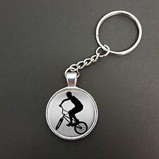 Ciondolo Biker su un Anello Split Portachiavi Ideale Compleanno Regalo n805