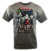 Men's T-shirt DISNEY FLORIDA 2017 Mickey Mouse Friends Classic B&W Comic Cartoon