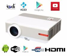 DE 3D 5000 Lumen 1080P Android Youtube KODI WIFI Heimkino HDMI LED Video Beamer
