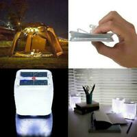 Foldable 10LED Solar Power Inflatable Tent Camping Recharge Emergency Lamp U6R7