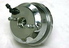 "7"" Single Diaphragm Chrome Power Brake Booster Universal Street Rod Chevy Ford"